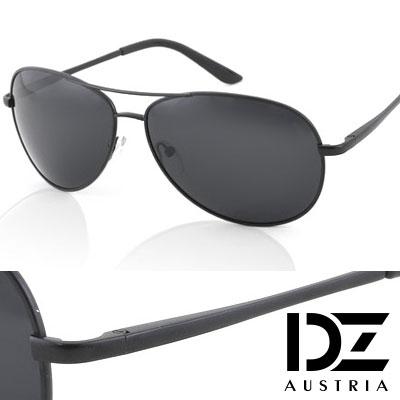 【2件59折】DZ 克雷孟特 抗UV 偏光 太陽眼鏡墨鏡(黑-酷黑框)