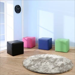 BuyJM 亮彩方塊沙發凳(40x40公分)-免組裝
