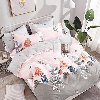 Ania Casa-台灣製 100%精梳純棉 - 加大床包枕套三件組 - 葉葉情緣
