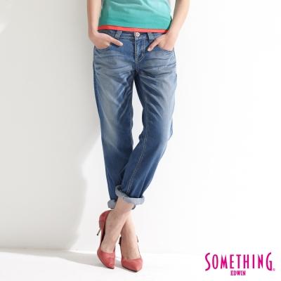 SOMETHING NATURAL涼感小垮褲-女-拔淺藍