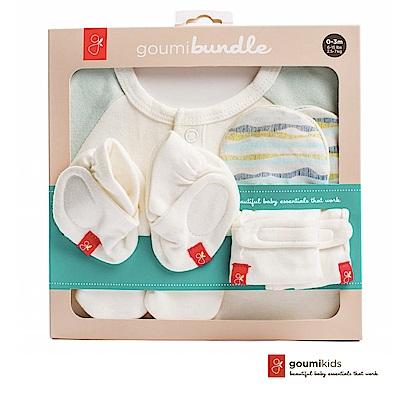 美國GOUMIKIDS有機棉新生兒彌月禮盒(舞動波浪-淺綠色)