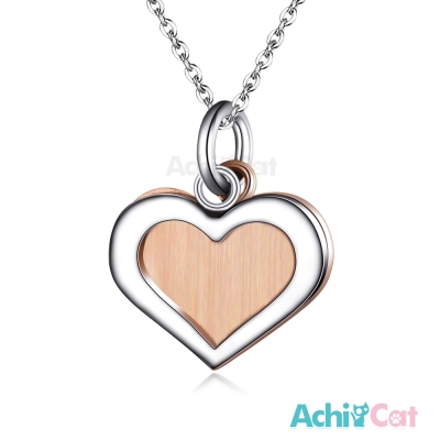 AchiCat 珠寶白鋼項鍊 純粹 愛心