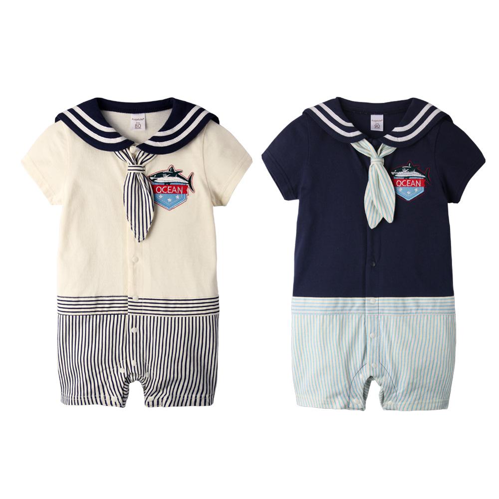 baby童衣 寶寶爬服 水手風連身衣61033