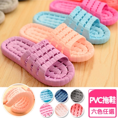 Conalife 超柔軟浴室防滑摺疊拖鞋男女款(6雙)顏色隨機
