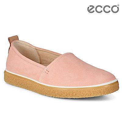 ECCO CREPETRAY LADIES 女 蜜糖牛奶粉嫩懶人鞋-粉