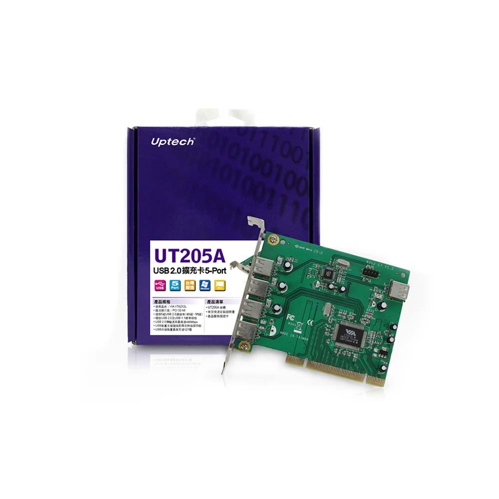 Uptech UT205A USB2.0擴充卡5-Port