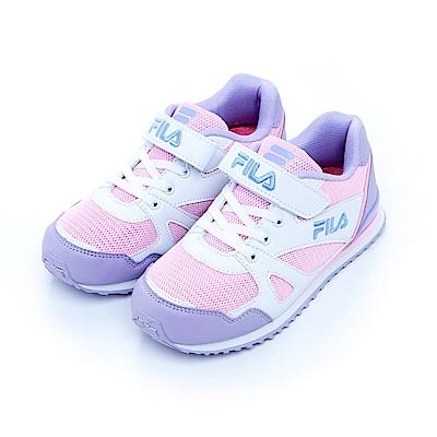 FILA KIDS 大童EVA經典慢跑鞋-粉紫3-J411S-159