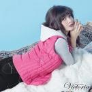 Victoria 活動帽絲棉背心-女-桃紅