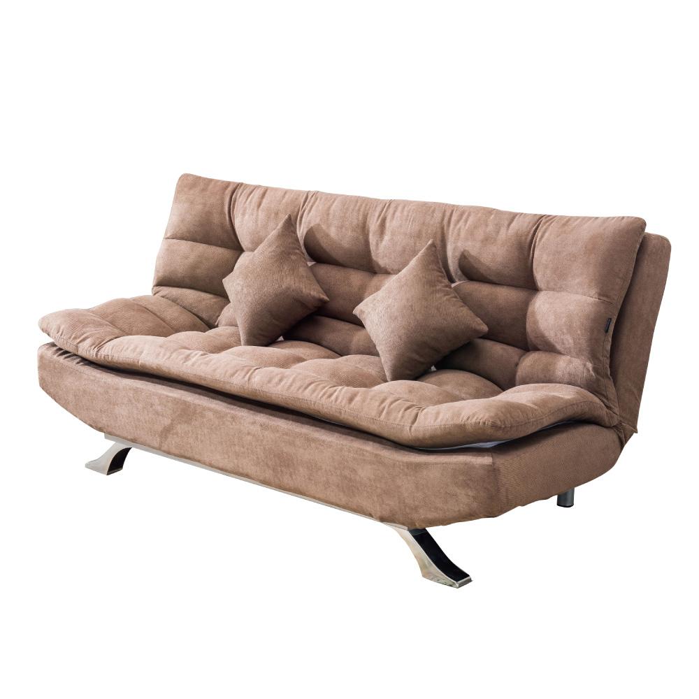 品家居 比多斯絲絨布展開式沙發床-190x56x90cm-免組