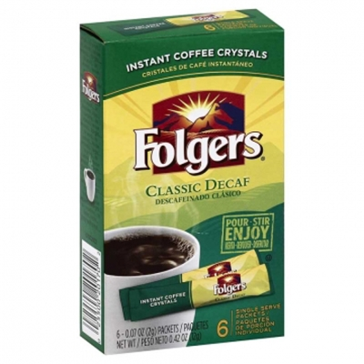 FOLGERS 即溶咖啡-低咖啡因(12g)
