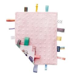 奇哥 PUP 豆趣標籤響紙安撫巾-粉紅