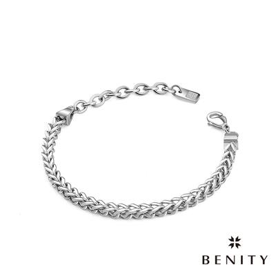 BENITY 永恆守護 316白鋼/西德鋼 個性鎖鏈設計 情侶款女手鍊