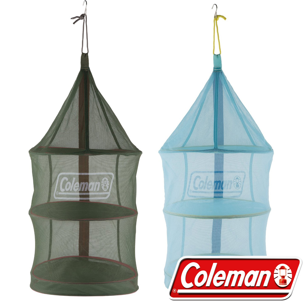 Coleman 26811_綠+26813藍 收納廚網/防蚊防蠅吊籃/通風餐廚籃 公司貨