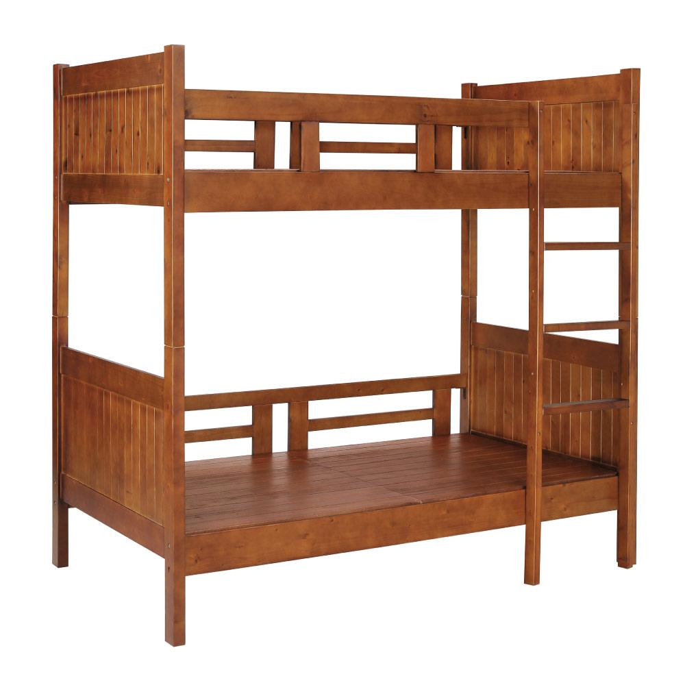 品家居 費安3.5尺實木單人雙層床架(不含床墊)-109x197x176cm免組