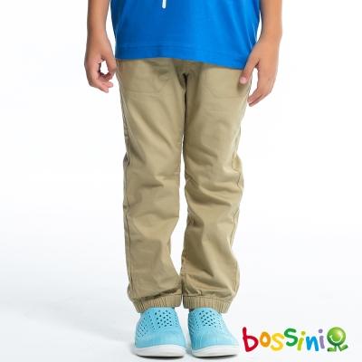 bossini男童-素色束口褲01淡卡其