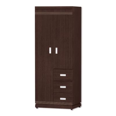 Bernice-德里克2.5尺雙門衣櫃(右抽屜櫃)-76x57x192cm