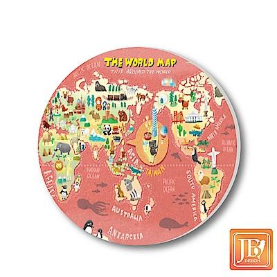 JB-Design陶瓷吸水杯墊790-世界地圖