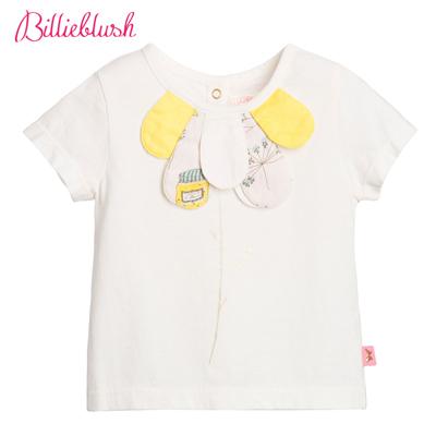 Billyblush立體花朵白色T恤