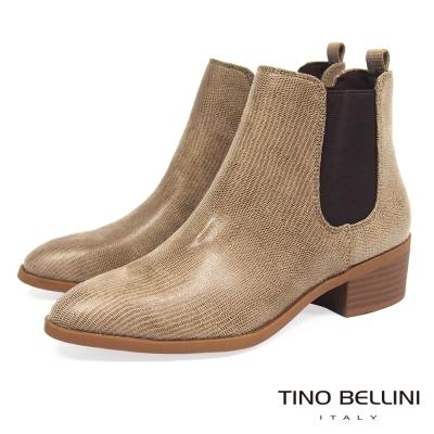 Tino Bellini 英式經典時髦切爾西靴_駝
