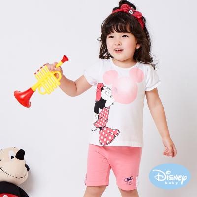 Disney baby 甜柔蕾絲米妮短褲  粉紅色