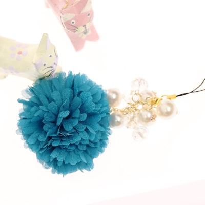 Aimee Toff 喜愛繡球花意亮艷手機吊飾(藍)
