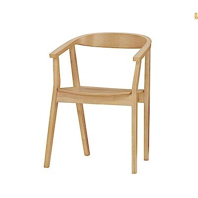 品家居 奧普歐實木餐椅(二色可選)-56x47.5x77cm免組