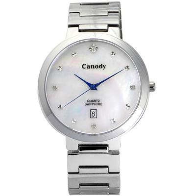 Canody 極度時尚都會腕錶(CM1226-B)-珍珠貝/39mm