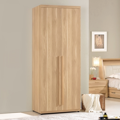 Boden-喬依斯2.7尺二門衣櫃(單吊)-80x60x200cm