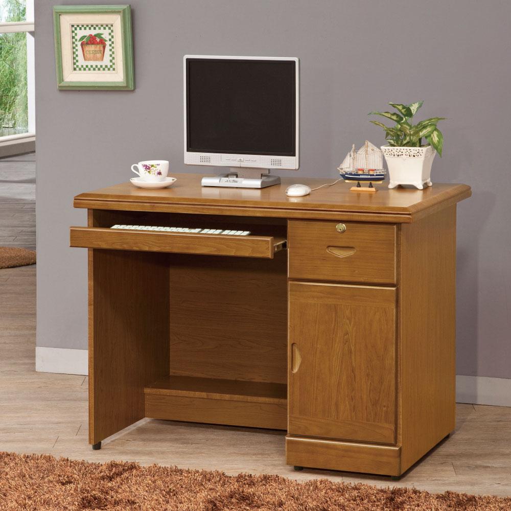 品家居 布克3.3尺書桌/電腦桌-100x60x77cm-免組