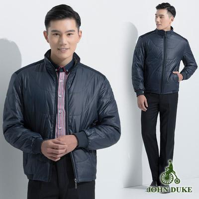 JOHN DUKE 立領防風禦寒率性厚外套_深藍(99-5K1160)