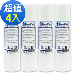 【EssenPure 】加強版10英吋1微米壓紋PP濾心【4支組】