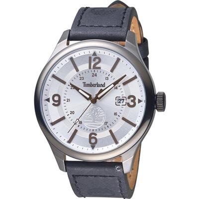 Timberland 時光之旅經典復古腕錶-銀白/46mm