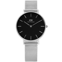 Daniel Wellington Classic米蘭編織不鏽鋼手錶-黑色/32mm