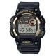 CASIO 超亮LED強悍震動數位運動錶(W-735H-1A2)-黑x金框/47mm product thumbnail 1