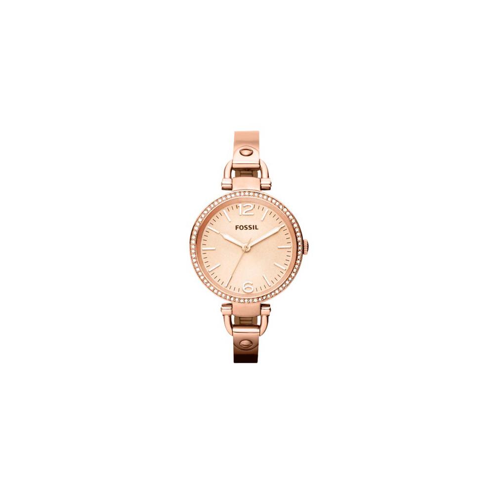 FOSSIL 俏皮女孩晶鑽時尚腕錶-玫塊金/32mm