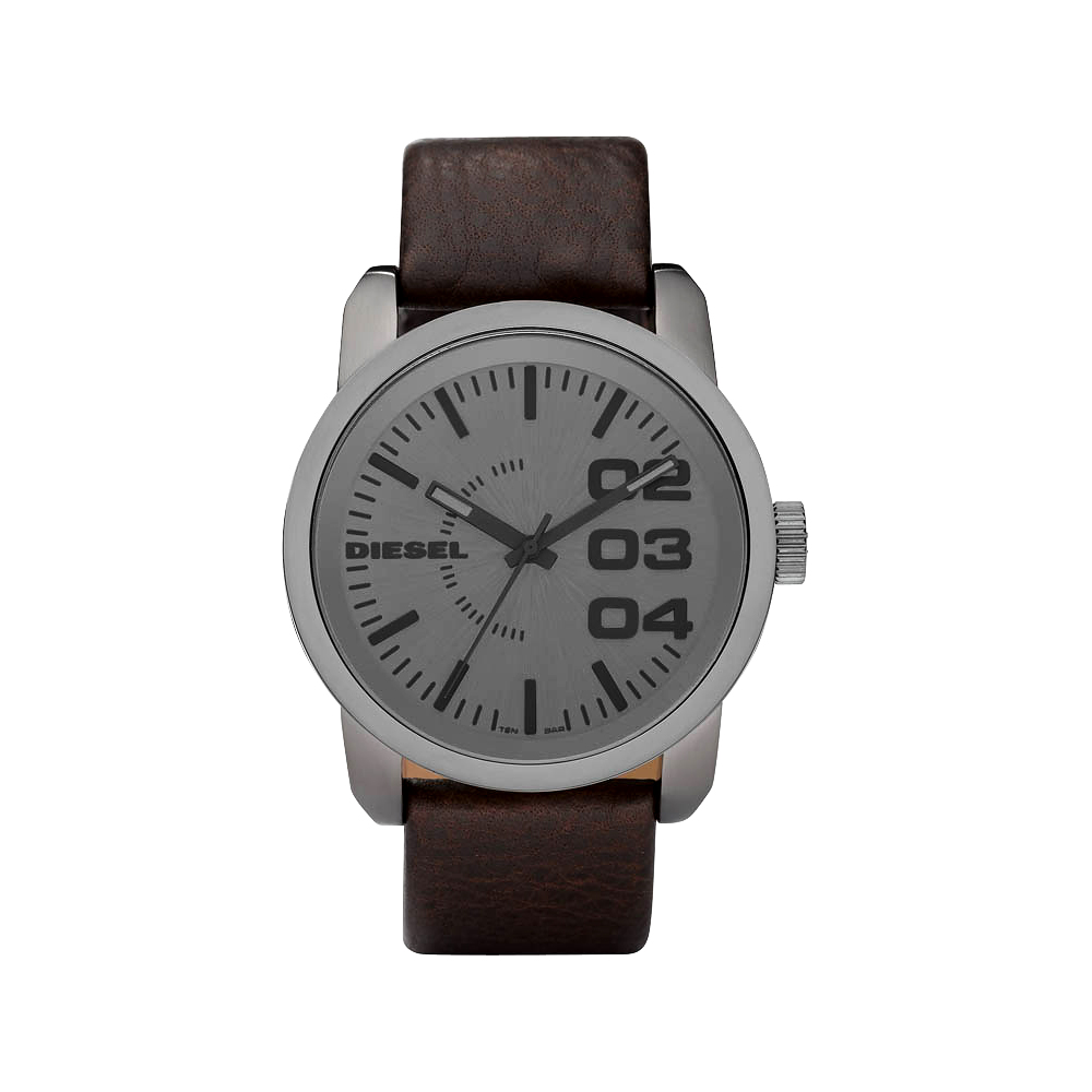 DIESEL 忍者戰將 時尚腕錶-灰/咖啡/46mm