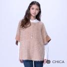 CHICA 甜美俏皮柔軟羊毛寬版罩衫(2色)