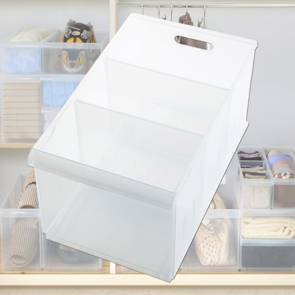 [愛收納]積木式 Fine01隔板整理盒(附輪)六入組