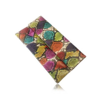 ACUBY 限量單品手工蛇皮摺疊手拿包/釉彩藍
