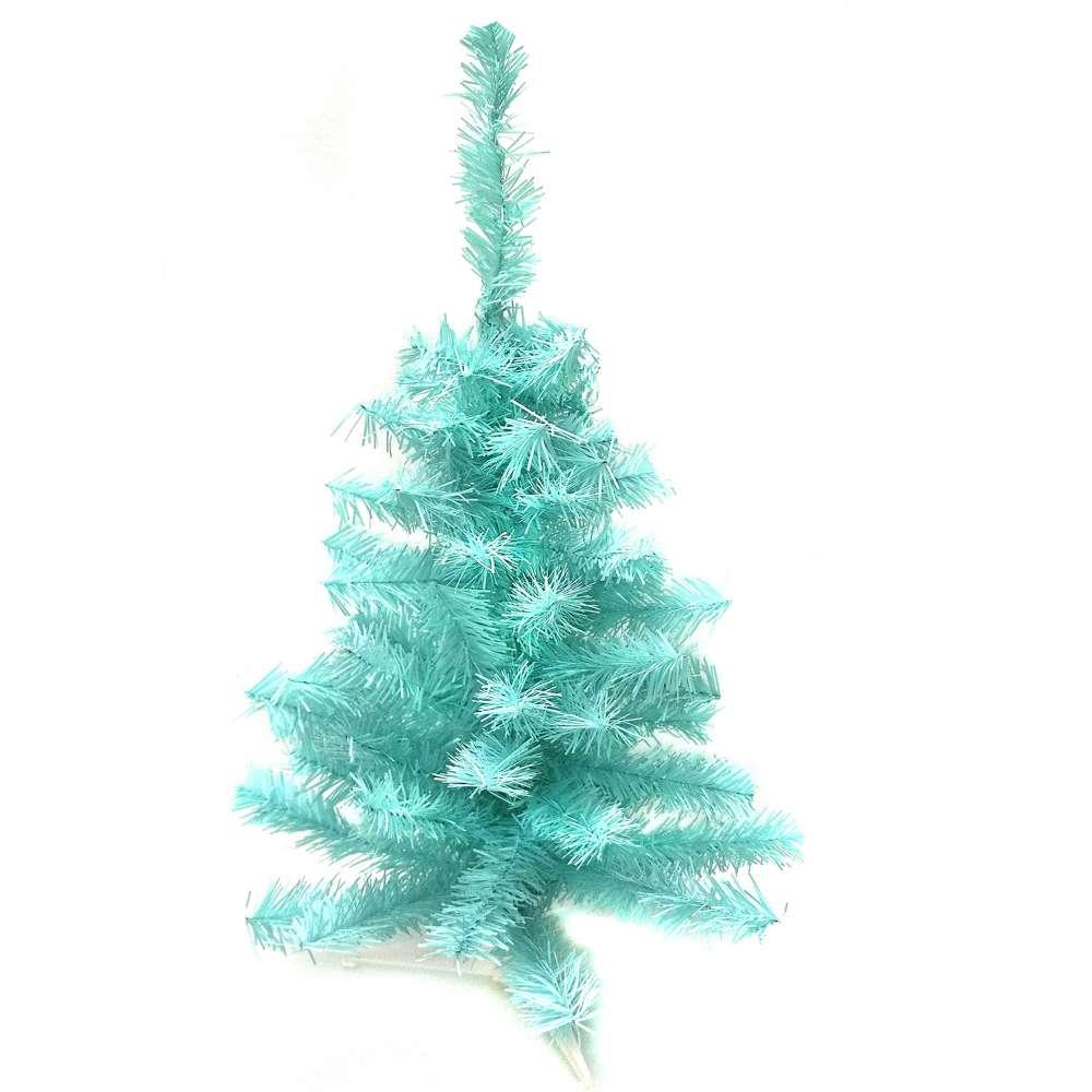 台製2尺(60cm)冰藍色聖誕樹裸樹