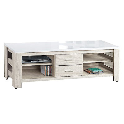 品家居 雪莉5尺白梣木紋長櫃/電視櫃-150x40.5x47cm免組