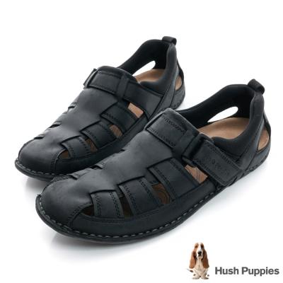 Hush Puppies LELLE 超軟Q舒適涼鞋-黑色