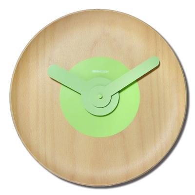 13吋原木質感現代居家日式簡約典雅清新風格餐廳客廳臥室靜音掛鐘 - 櫸木紋色