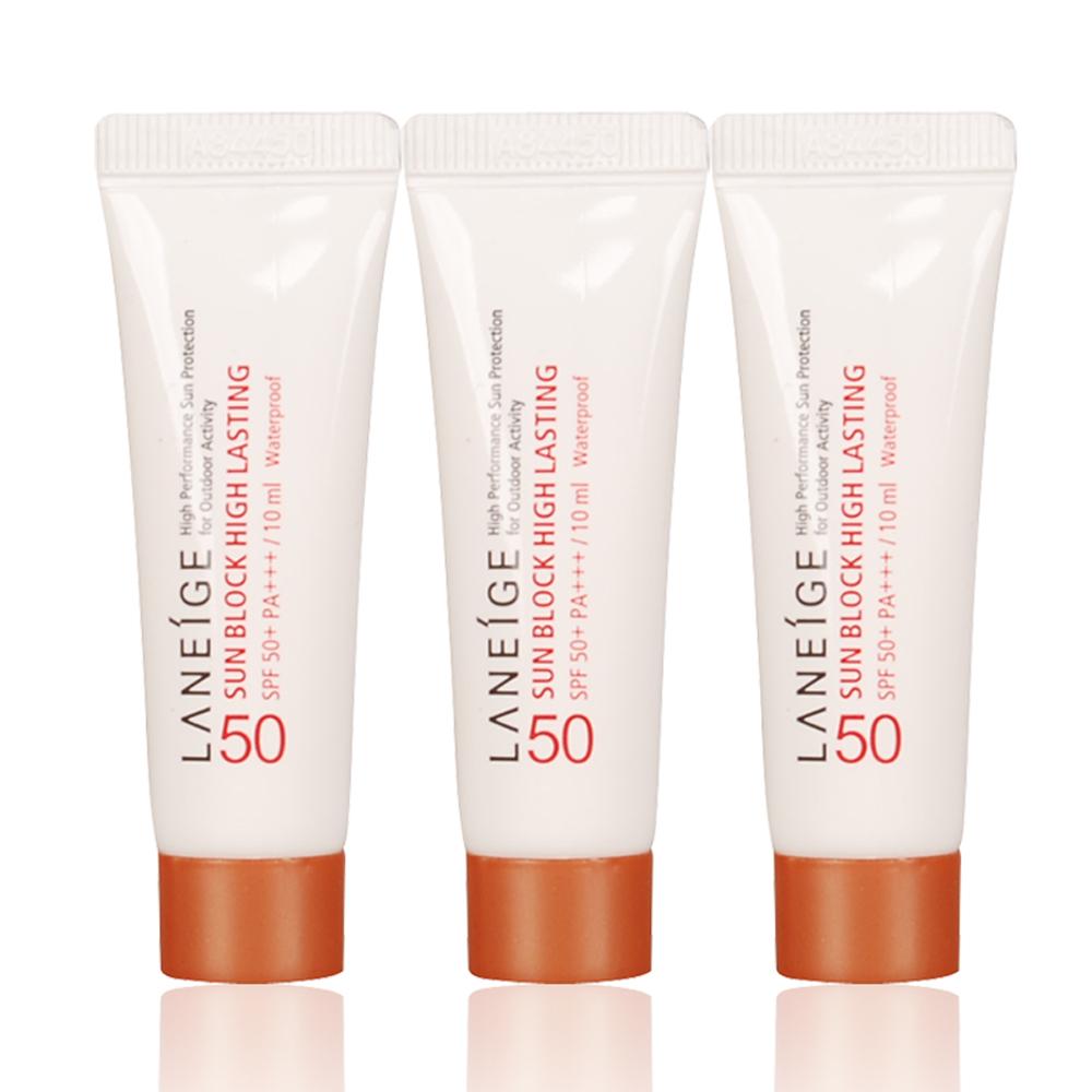 LANEIGE 蘭芝 水感長效防曬乳SPF50+/PA+++(10ml)x3