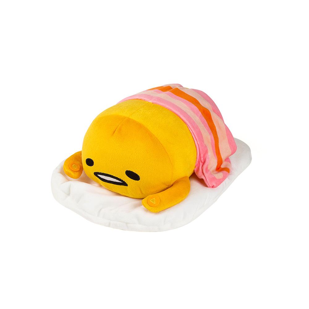 Sanrio 蛋黃哥趴趴造型可錄音有聲絨毛娃娃(培根被)