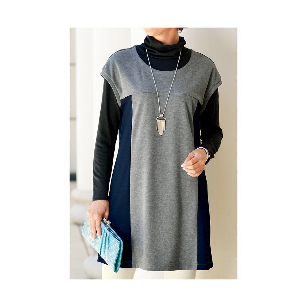 【cecile】360度美感修飾長版短袖上衣