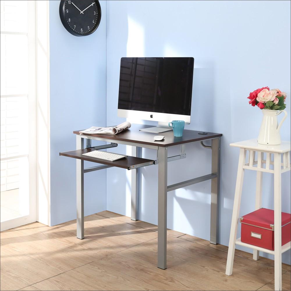 BuyJM低甲醛防潑水80公分單鍵盤穩重型電腦桌-DIY