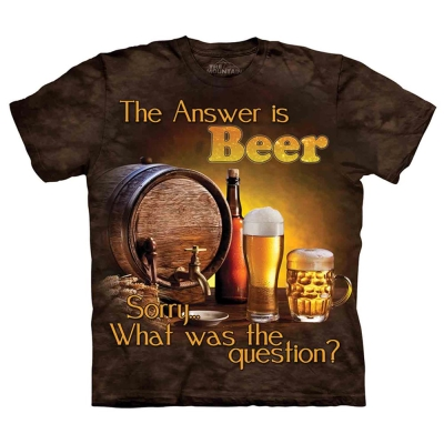 摩達客 美國進口The Mountain 啤酒是答案  純棉環保短袖T恤
