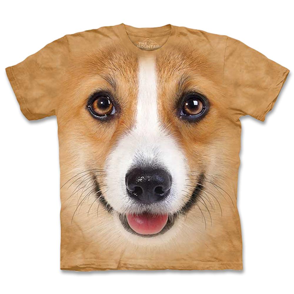 摩達客 美國進口The Mountain 柯基犬臉 純棉環保短袖T恤
