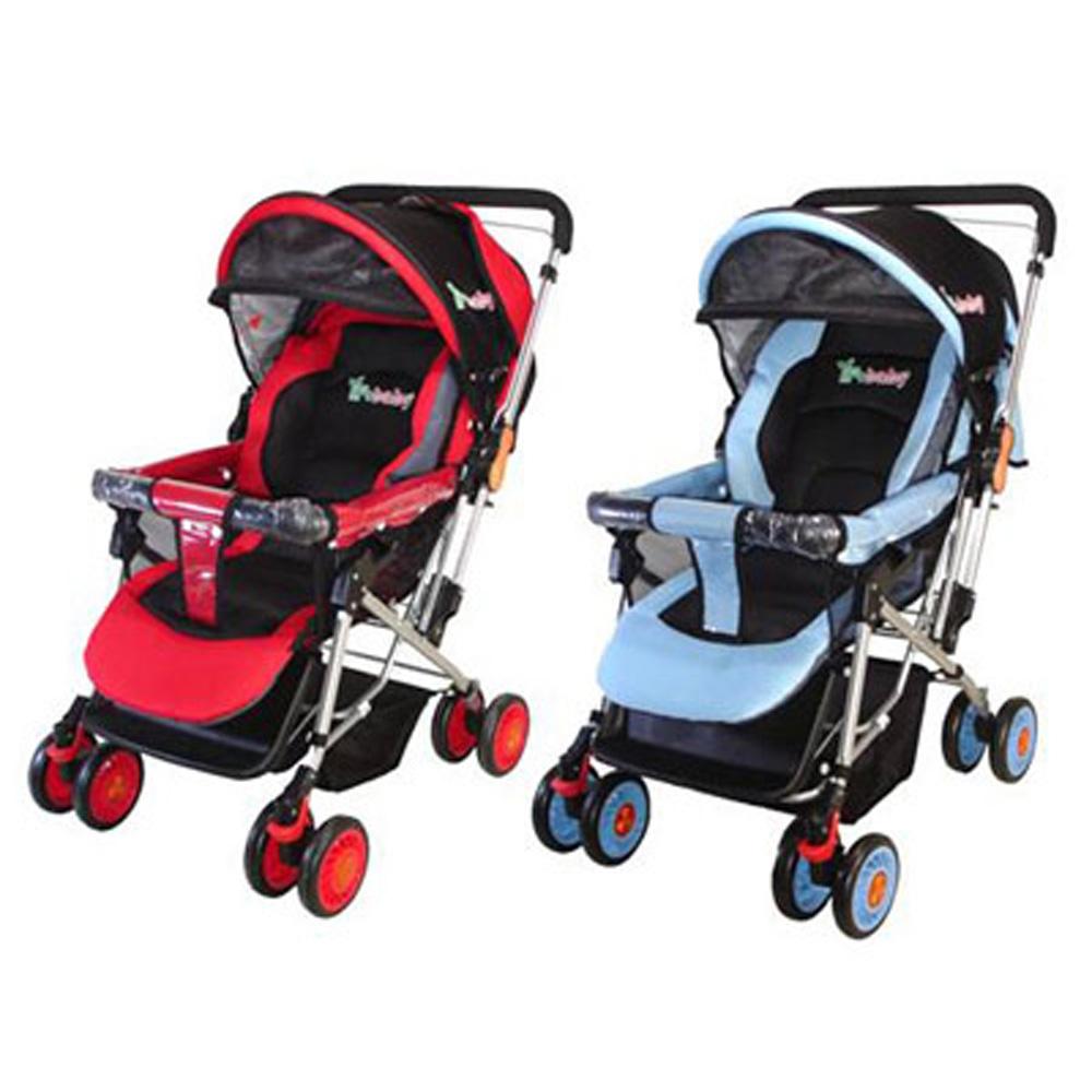 YIP-baby超寬雙向手推車(藍色/紅色)